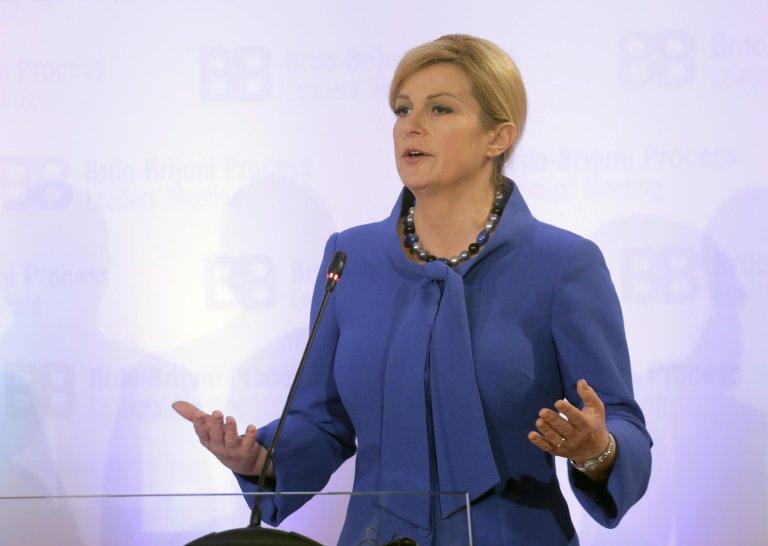 ANSA / الرئيسة الكرواتية كوليندا غرابار كيتاروفيتش. المصدر: إي بي إيه/ مالتون ديبرا.
