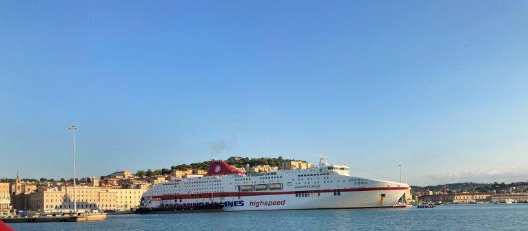 عکس: ارشیف، کشتی تفریحی  به نام «اروپا» که متعلق به شرکت «Minoan Lines» است. ۶ سپتمبر ۲۰۲۰/عکس: ANSA/Maria Verdenelli