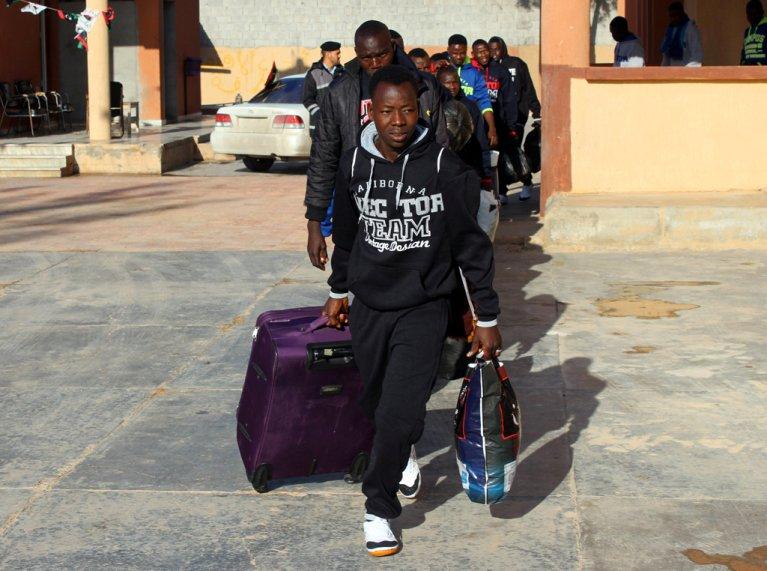 Migrants nigériens en Libye en février 2018. Crédit : Reuters (Archive)