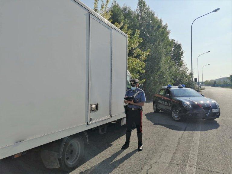 ACarabinieri policeman controls a truck   Photo: Archive/ANSA