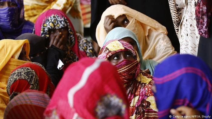 Women in a refugee camp in Sudan