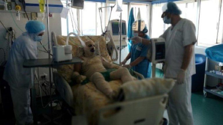 أ ف ب |صورة التقطت في 10 كانون الثاني/يناير 2018 ويظهر فيها اللاجئ السوري رياض خلف زيبو في المستشفى
