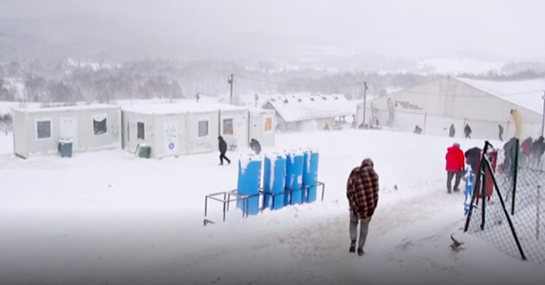 """The weather is very cold. We can't sleep. There is no water, no toilet, no shower, no food,"" a migrant told DW 