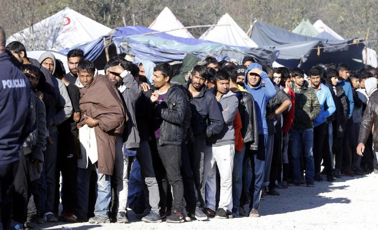 From file: Migrants wait in line for food at camp 'Vucjak' in Bihac, Bosnia and Herzegovina, October 25, 2019 | Photo: EPA/FEHIM DEMIR
