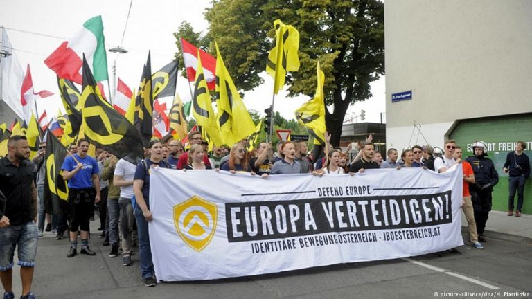 "The ""Identitarian Movement"" has mounted numerous protests in recent months - to varying degrees of success"