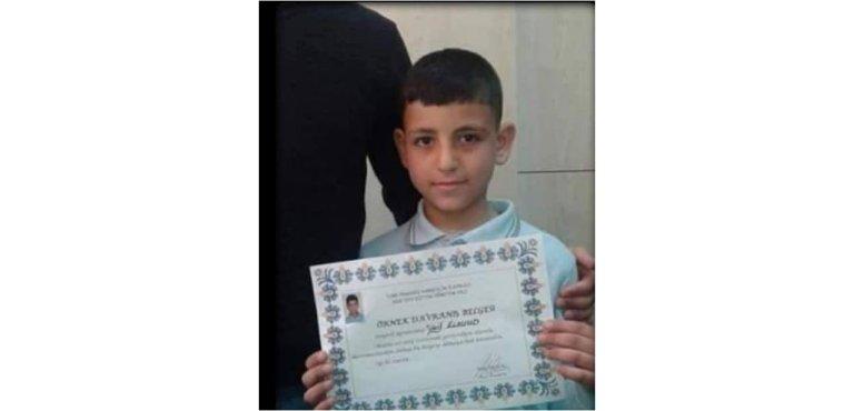 التلميذ وائل السعود الذي انتحر شنقًا في مدينة كارتبه بإقليم كوجالي/الصورة تناقلها مستخدمو تويتر