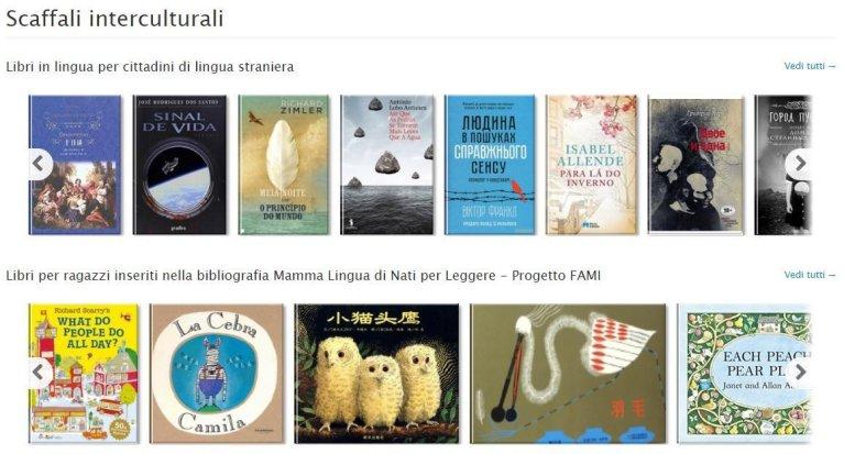 The website of Scaffali Interculturali   Credit: ANSA