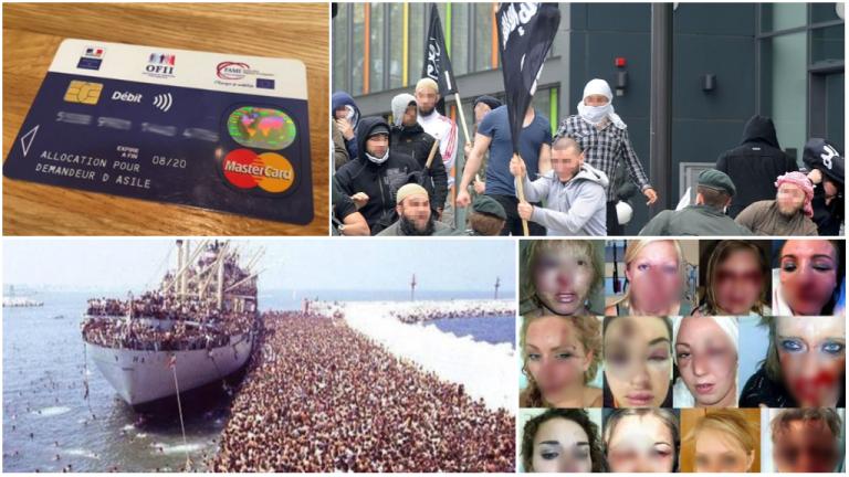 Plusieurs images détournées et utilisées pour manipuler l'opinion publique sur la crise migratoire.