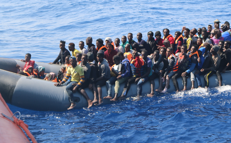 The German rescue ship Alan Kurdi found 133 people floating off the coast of Libya in the space of 12 hours. Those rescued were aboard three separate boats | Photo: Joris Grahl / Sea-Eye