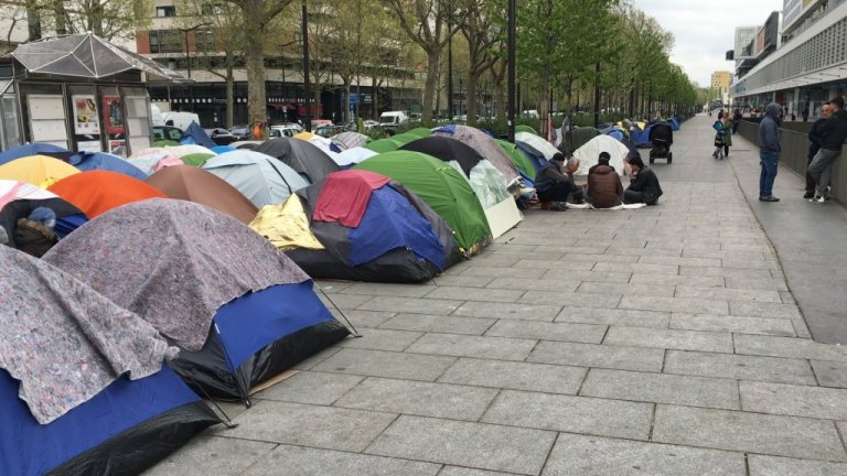 File photo of the camp at Porte d'Aubervilliers | Photo: RFI