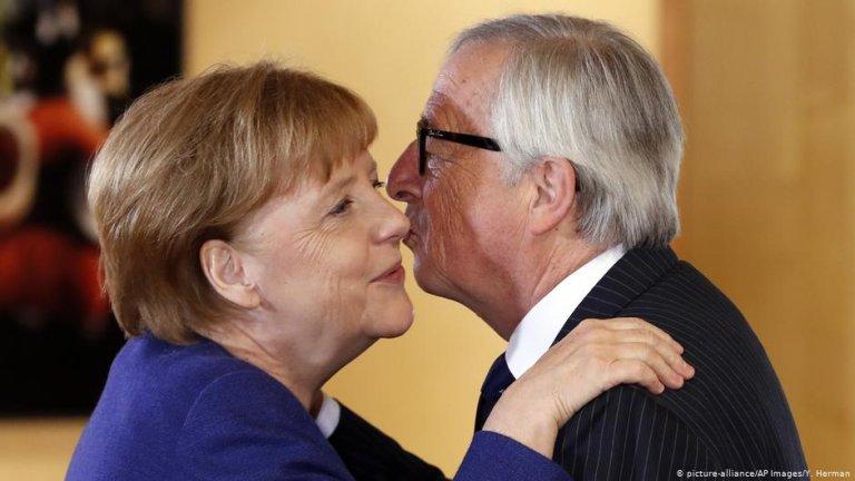 دیدار ژان کلود یونکر، رئیس کمیسیون اتحادیه اروپا با انگلا مرکل، صدر اعظم آلمان