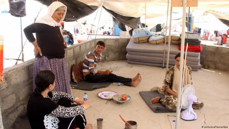 Many Yazidi families were displaced when IS took control of their homes in 2014 | Photo: picture-alliance/dpa