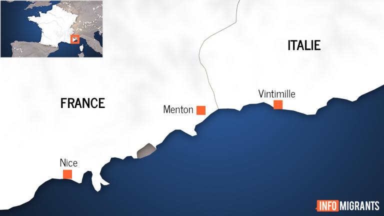 Beaucoup de migrants débarquent à Menton après avoir traversé ma frontière franco-italienne . Crédit : InfoMigrants