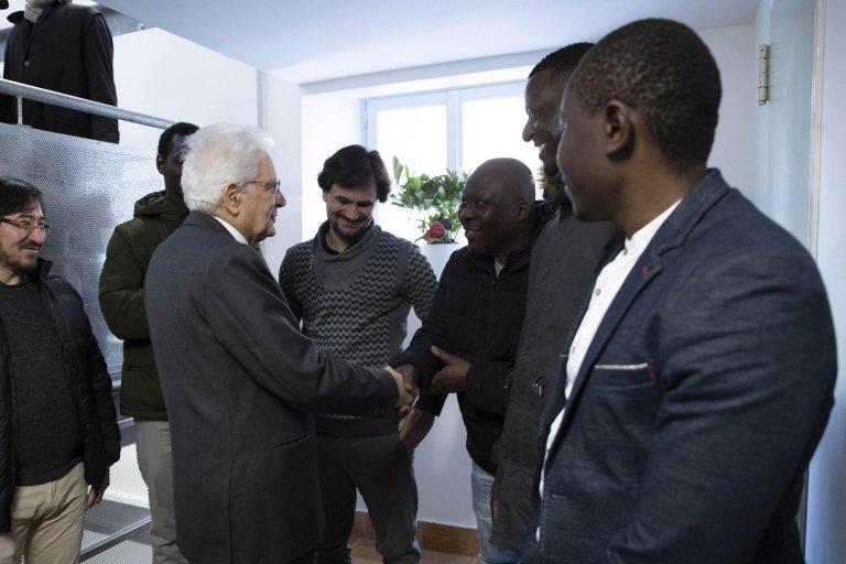 ANSA / الرئيس الإيطالي سيرجيو ماتاريلا خلال افتتاح مركز ماتيو ريتشي للاستقبال في روما. المصدر: أنسا/ مكتب كرينالي الصحفي/ فرانشيسكو أميندولي.