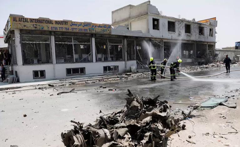 تصویر یکی از انفجارهای روز پنجشنبه ٢٥ جولای  ٢٠١٩ در کابل.  DR
