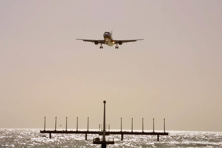 From file: A plane near the Canary Island of Lanzarote | Photo: Picture-alliance