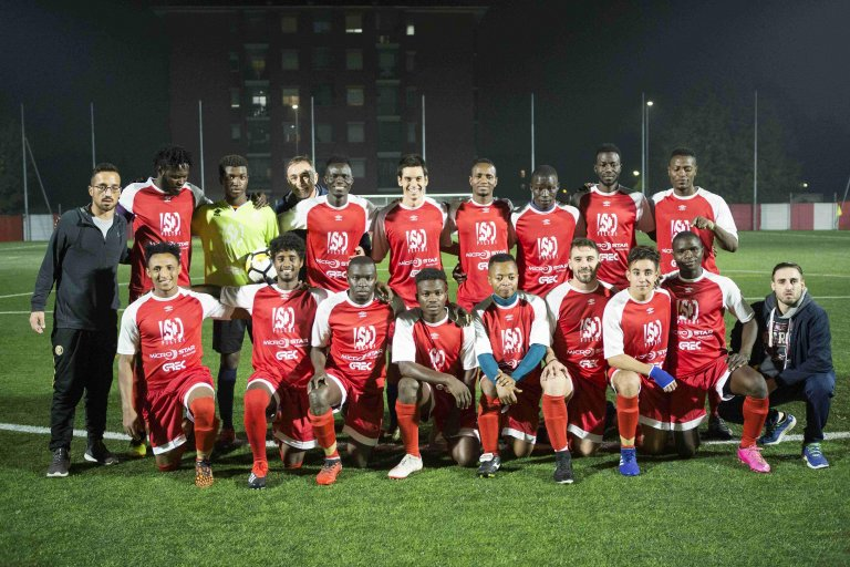 Migrant soccer team NoWalls Internazionale FC | Photo: ANSA