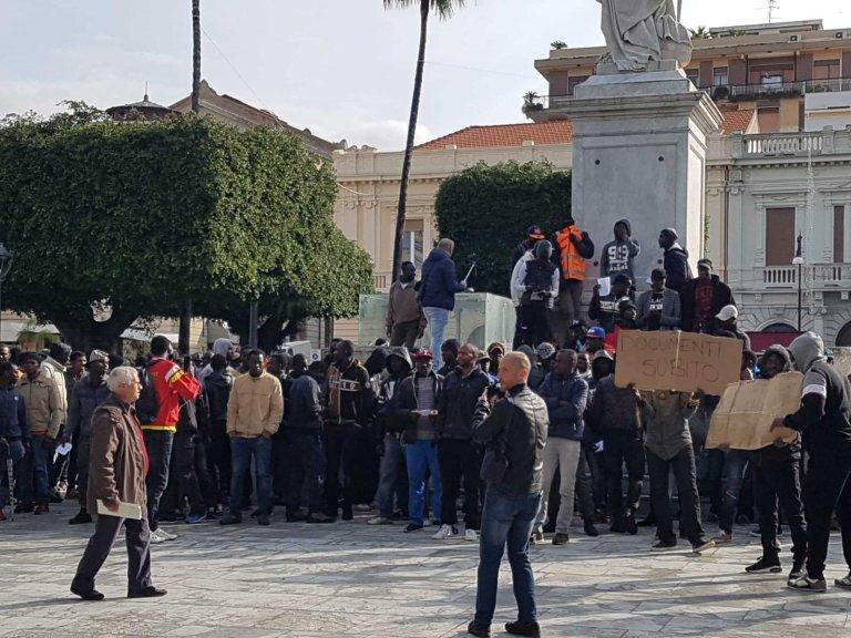 Archive: Migrants protest in Reggio Calabria | Photo: ANSA