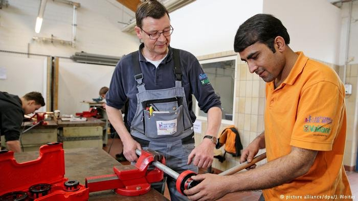 Refugee at an apprenticeship