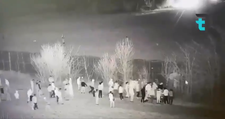 Still taken from a video shared on Twitter purportedly showing Greek rights violations against migrants at the Greece-Turkey border, March 2020