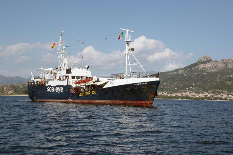 The NGO Sea-Eye ship Alan Kurdi, pictured off the Sardinian coast | Photo: ANSA/ETTORE LOI
