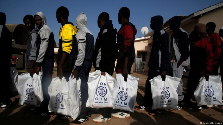 Gambian refugees returning voluntarily from Libya