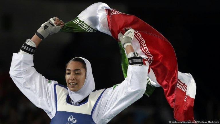 En 2016, Kimia Alizadeh a remporté une médaille de bronze aux Jeux olympiques de Rio | Photo : picture-alliance/dpa/AP Photo/A. Medichini