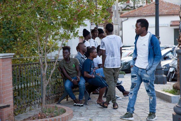 ANSA / مهاجرون في كالابريا. المصدر: أنسا / ماركو كوستانتينو.