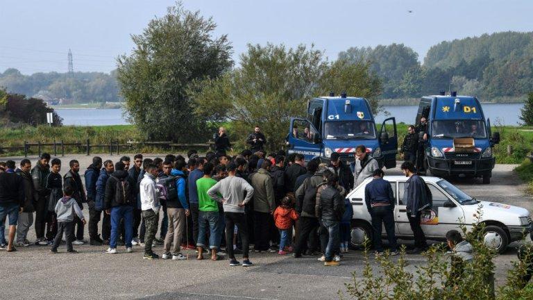 Migrants in Calais, northern France Credit: AFP, Phillipe Huguen