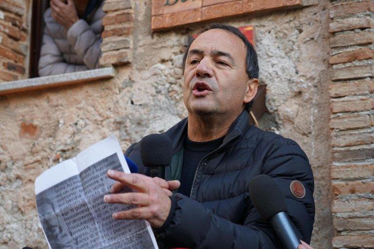 Photo shows former mayor Domenico Lucano in Riace   Photo:ARCHIVE/ANSA/LUIGI SALSINI