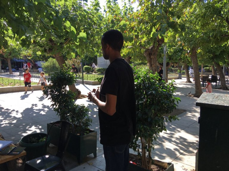 Samuel* ne veut pas être reconnu, par peur pour sa famille restée en Érythrée | Photo: InfoMigrants / M. MacGregor