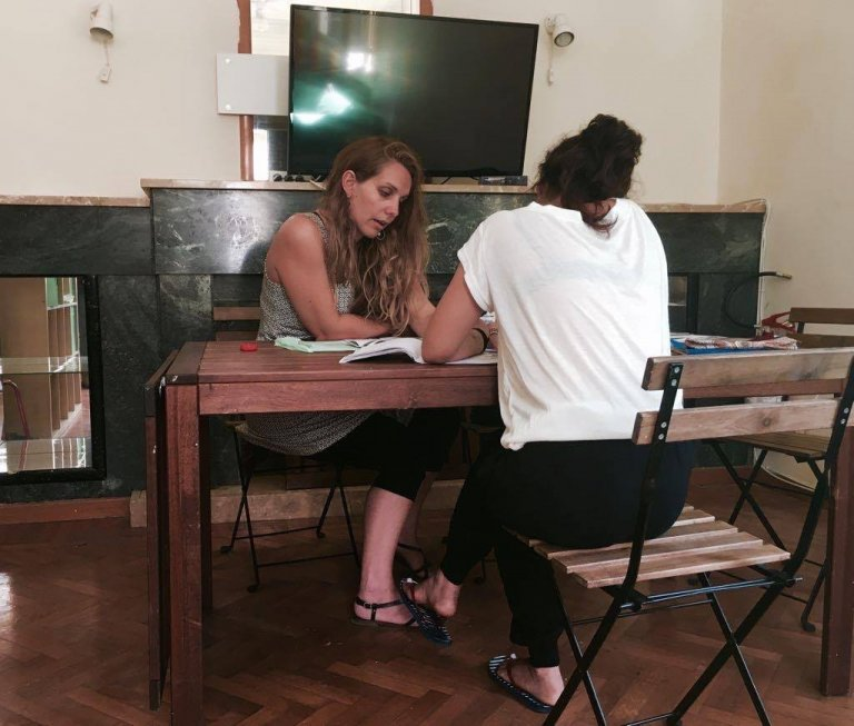 Le centre pour mineurs de Chios, en Grèce, peut accueillir 18 jeunes. Crédit : Charlotte Boitiaux
