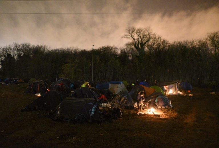 Une vue d'un campement de migrants à Calais. Crédit : Mehdi Chebil