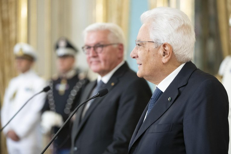 Italian President Sergio Mattarella (R) and his German counterpart Frank-Walter Steinmeier (L) during a joint press conference at the Quirinal Palace, Rome, Italy, 19 September 2019 | Photo: ANSA / Francesco Ammendola - Quirinal press office