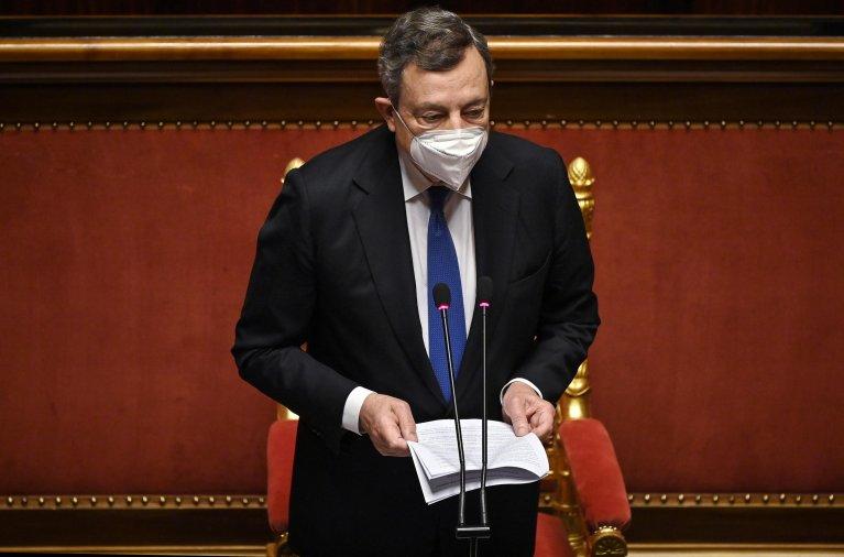 Italian Premier Mario Draghi in the Senate in Rome, on June 23, 2021 | Photo: ANSA/Riccardo Antimiani