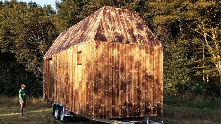La mini maison créée par l'association Quatorze. Crédit : Quatorze