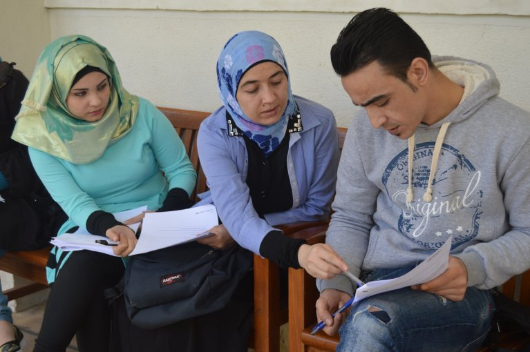 For many young Syrians in Lebanon, Iraq, Jordan, Turkey and Egypt, further education is a key to the future