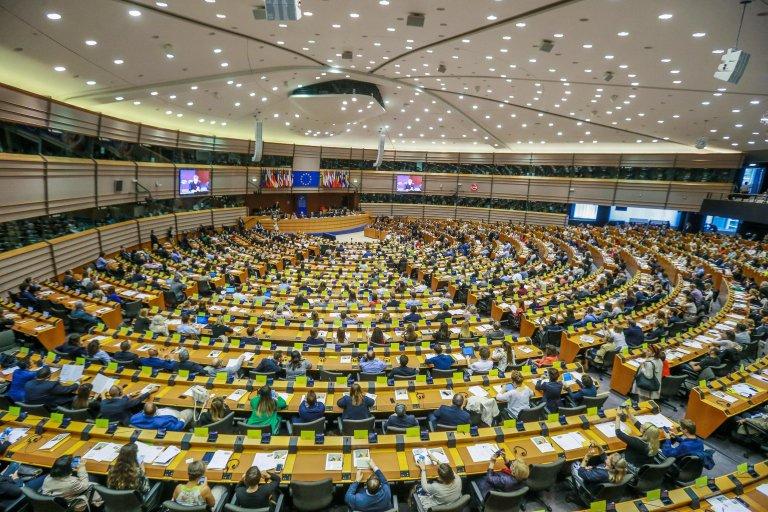 Vue générale du Parlement Européen à Bruxelles. Crédit : Picture alliance