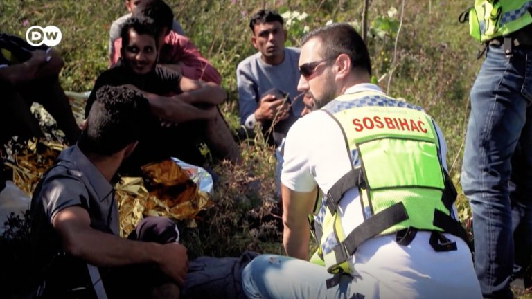 SOS Bihac is the only organization in the region dedicated solely to helping migrants | Screenshot: DW video report