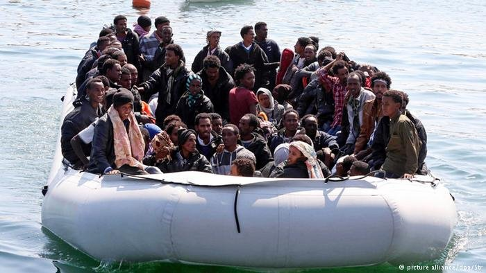 Migrants intercepted by the Libyan coast guard are return to the port of Tripoli