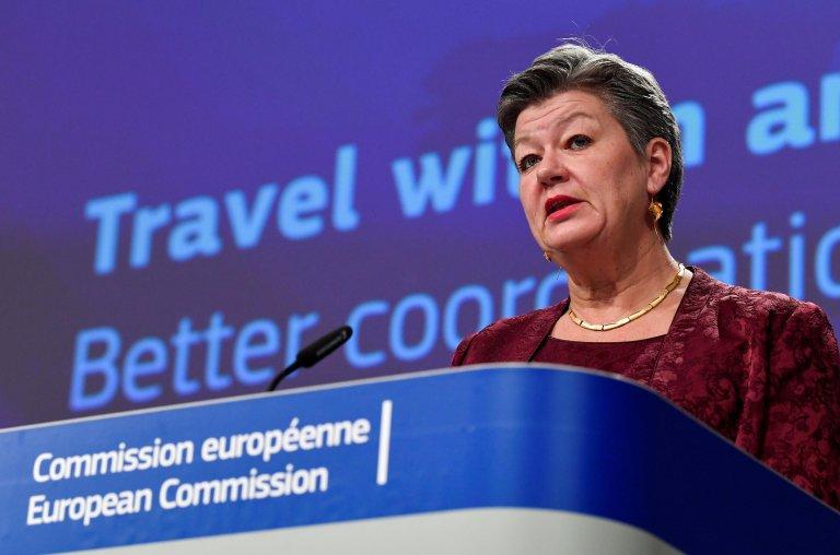 المفوضة الأوروبية للشؤون الداخلية إيلفا جوهانسون/ أنسا