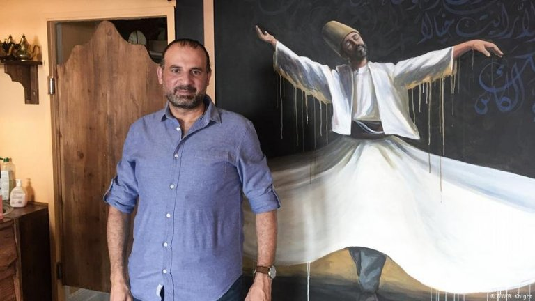 Samer Serawan dans son restaurant Damascus' Aroma à Schöneberg, Berlin   Photo: DW/B.Knight
