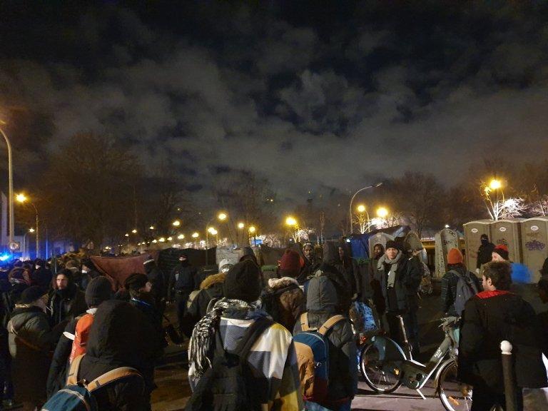 إخلاء مخيم بورت دو أوبرفييه شمال باريس، 28 كانون الثاني/يناير 2020. مهاجر نيوز