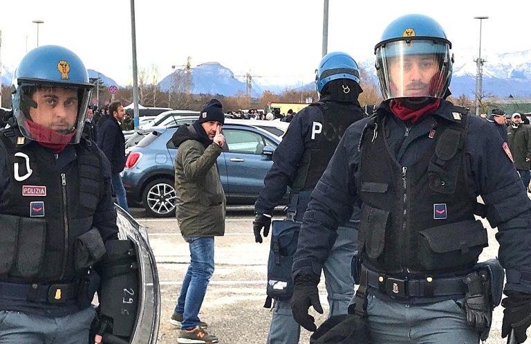 Italian police in Udine, Friuli Venezia Giulia. Credit: ANSA