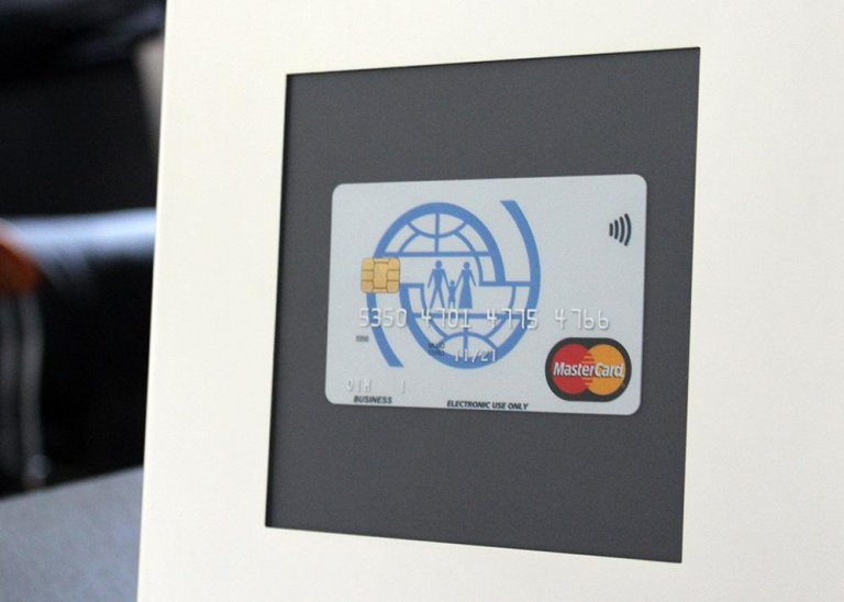 Sample of the IOM-Mastercard product developed for delivery of financial support to refugees and migrants Credit: IOM