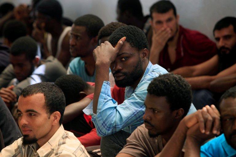 REUTERS/Ismail Zitouny |Tripoli, dans les bureaux de l'Autorité de lutte contre l'immigration illégale, le 21 mai 2017.