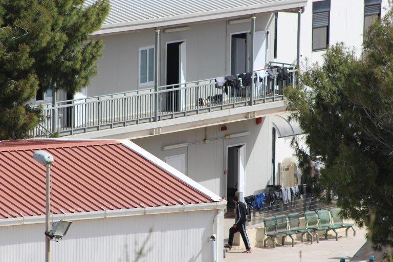 Migrants at the Lampedusa hotspot Photo: ANSA