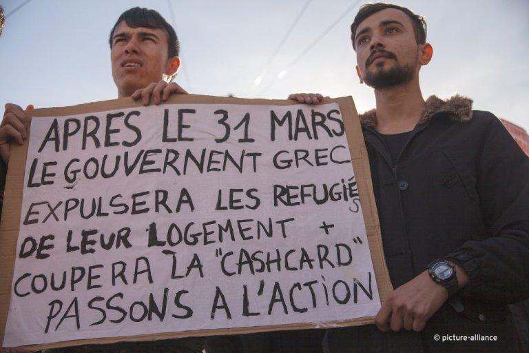 اعتراض پناهجویان علیه کاهش مزایای پناهندگان، مارچ ۲۰۱۹| عکس: از روبرت گیس
