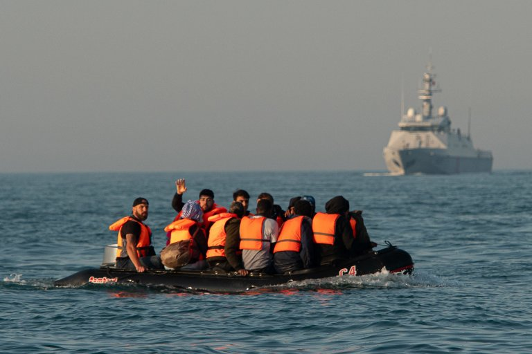 Migrants crossing the English Channel, September 2020 | Photo: picture-alliance/P. Bonniere