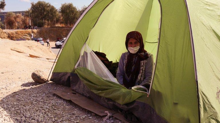 په ليسبوس کي يوه ۵۰ کلنه افغانه